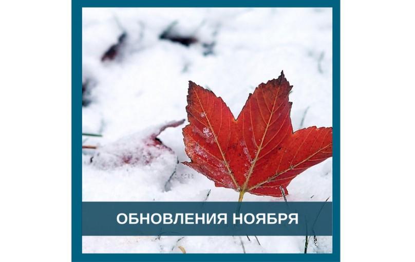 Новые программы за ноябрь 2020 г.